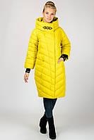 Зимняя женственная куртка пальто с капюшоном на синтепоне Angel Bestow