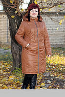 Легкое зимнее пальто из плащевой ткани на синтепоне размеры 54 56 58 60