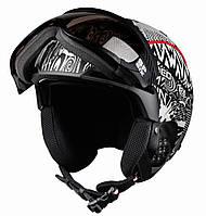 Горнолыжный шлем Casco SP-6 black-white F1 (MD)