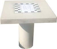 Стол шахматный бетонный №1