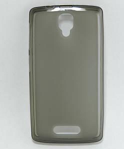 Чехол накладка для Lenovo A1000 силиконовый матовый, серый