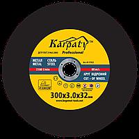 Круг абразивный отрезной КАРПАТИ™ Professional 300x3.0x32