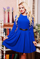 Молодежное платье Валерия электрик 42-50 размеры
