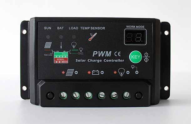 Контроллер заряда 10A 12/24В, настройки освещения
