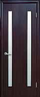 """Дверь межкомнатная """"Вера"""" Венге - стекло сатин (Новый стиль)"""
