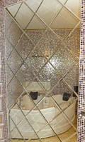 Зеркальное панно 1700х1700 серебро фацет 15мм (плитка 300  мм)