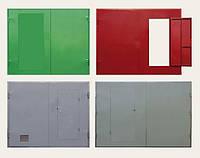 Металлические гаражные ворота, фото 1