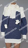 Свитер женский в комплекте с шарфом