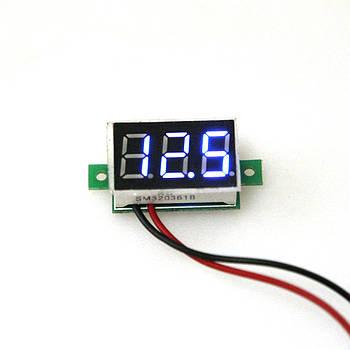 Цифровой вольтметр постоянного тока 4,5-30В DC Синий автономный