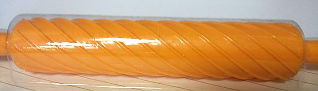 """Скалка для работы с мастикой """"Спираль""""оранж. (код 02336)"""