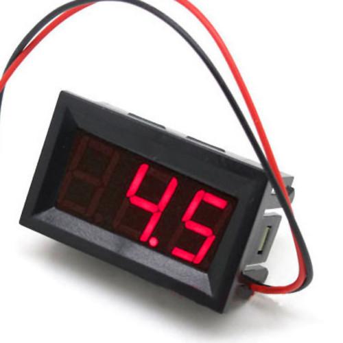 Цифровой вольтметр постоянного тока 4,5-30В DC Красный автономный
