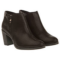 Ботильоны женские Blaura Brasi (фактурная кожа, на устойчивом каблуке, удобные, модные, элегантные)