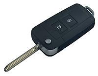Заготовка HYUNDAI SANTA FE выкидной ключ 2 кнопки (корпус)