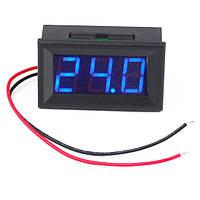 Цифровой вольтметр постоянного тока 4,5-30В DC Синий автономный, фото 1