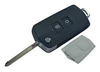 Заготовка HYUNDAI SANTA FE выкидной ключ 2 кнопки (корпус), с креплением батарейки на корпусе