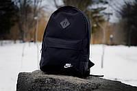 Модный городской рюкзак найки (Nike) черный реплика