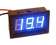 Цифровой вольтметр постоянного тока 0-100В DC Синий автономный, фото 1