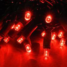 СВІТЛОДІОДНА ГІРЛЯНДА НИТКА МЕРЕХТІННЯ 10 метрів каучук, колір червоний