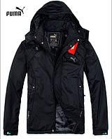 Удлиненная мужская куртка PUMA, черная