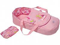 Люлька-переноска Zapf для куклы Baby Born Сладкие сны 2 в 1 с подушкой 822203, фото 1
