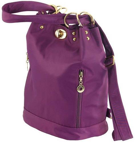 Прекрасная сумка-рюкзак из нейлона 14 л. Traum 7229-34, фиолетовый