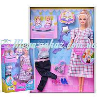 Кукла Defa 8009 беременная с 2 малышами в конверте: аксессуары в комплекте