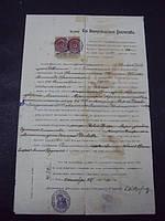 Документ выписка Уманьского костела 1915 год
