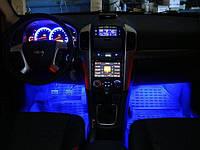 Декоративная подсветка салона автомобиля-лампочки.Синяя.4х3
