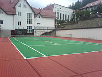 Наливные резинове покрытия для спортивных площадок   Herculanroller club