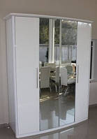 Шкаф 4дв с 2 зеркалами SW2174PQ-1G