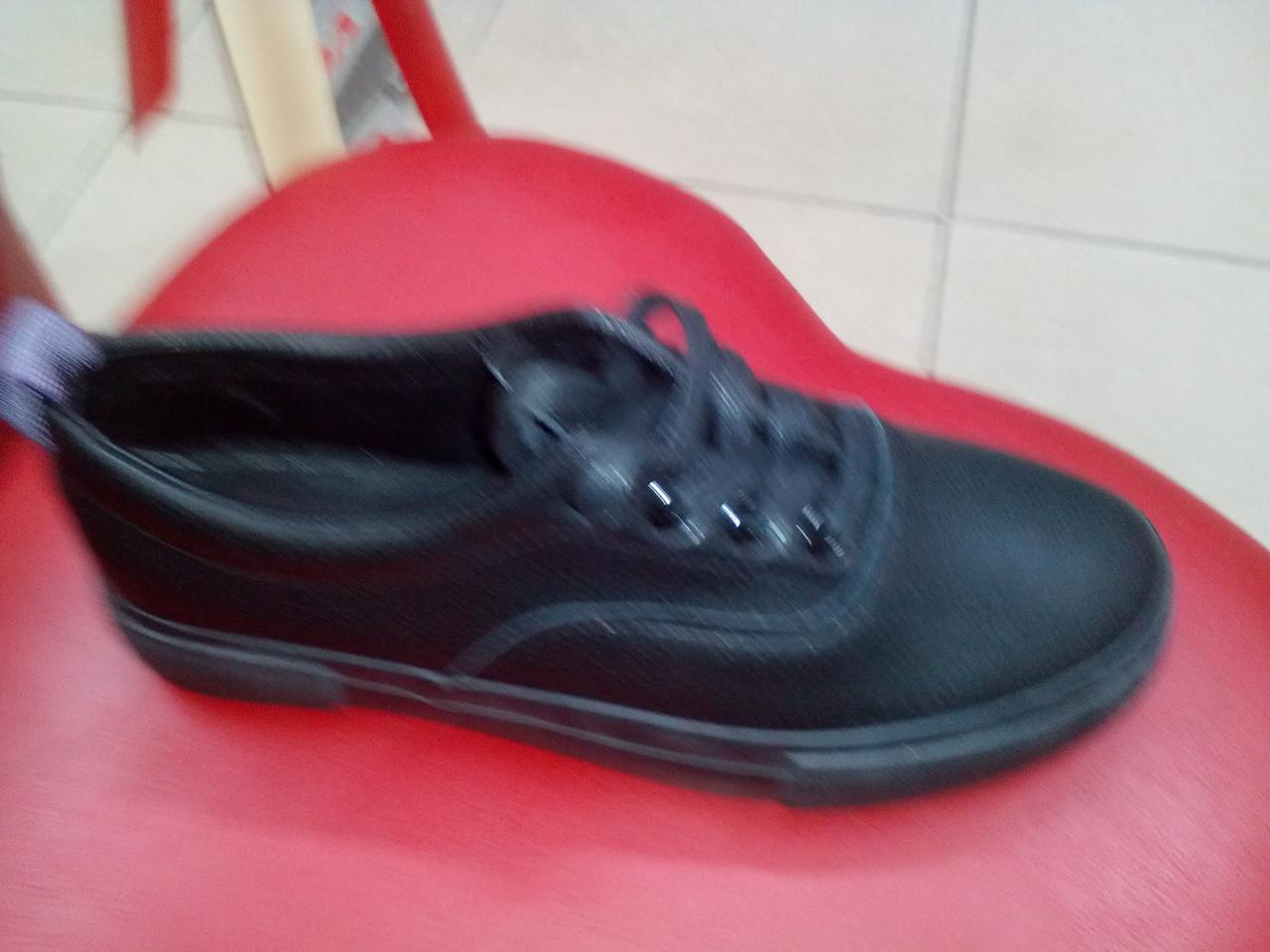 Черные женские слипоны на шнуровке, иск. кожа Prima D`Arte