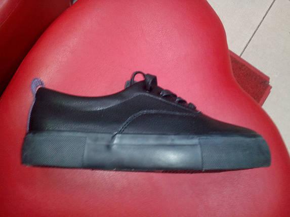 Черные женские слипоны на шнуровке, иск. кожа Prima D`Arte, фото 2