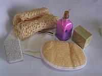 Арт. S1161 Мыло для пенного массажа в кусках, натуральное, оливковое 150г