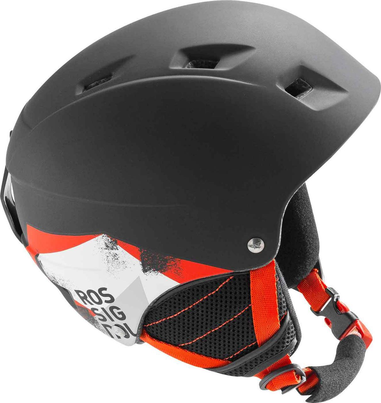 Горнолыжный шлем подростковый Rossignol Comp J BLACK-LED (MD)
