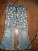 Модные джинсы демисезонные для девочки 7-9 лет