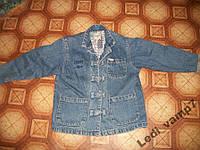 Джинсовая куртка пиджак на девочку 8-9 лет