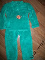 Пижама детская теплая махровая на 2-4 года
