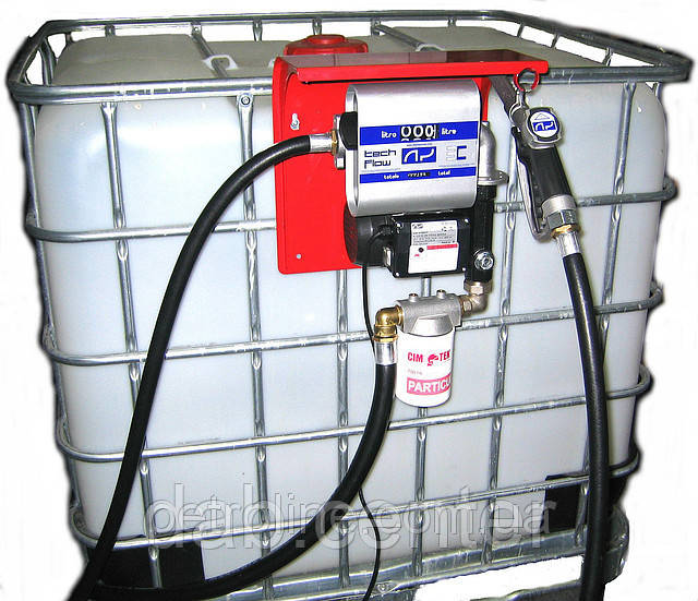 Мобильный заправочный модуль с насосом для дизельного топлива, 640 литров, 12/24 Вольт, 40 л/мин