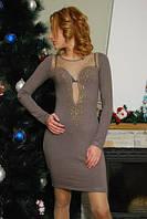 Платье розсыпь камней + рукава (Турция), фото 1