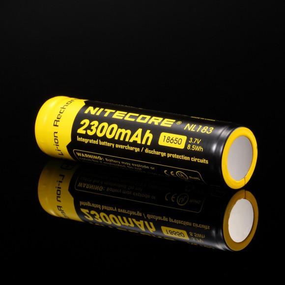 Аккумулятор литиевый Li-Ion 18650 Nitecore NL183 3.7V (2300mAh), защищ