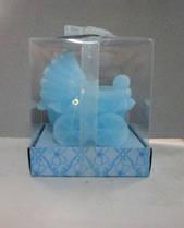 Свеча для торта Коляска детская голубая