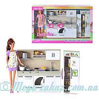 Игровой набор Кухня для Барби Defa Lucy 6085: 2 вида, кукла в комплекте