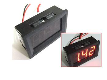 Цифровой амперметр постоянного тока 0~10А DC встраиваемый Красный