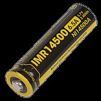 Аккумулятор литиевый Li-Ion IMR 14500 Nitecore 3.7V (650mAh)