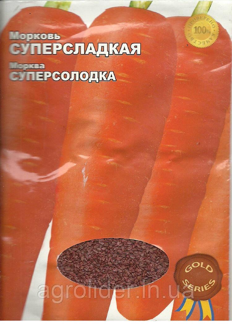 Семена морковь Суперсладкая Gold 20г Красная (Малахiт Подiлля)