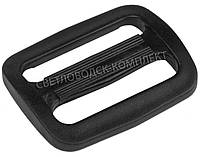 Пряжка 2-х щелевая 32 мм пластик, цв. чёрный, арт. РП/2-3209, фото 1