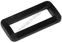 Пряжка рамка 38 мм пластик, цв. чёрный, арт. РП/1-3803