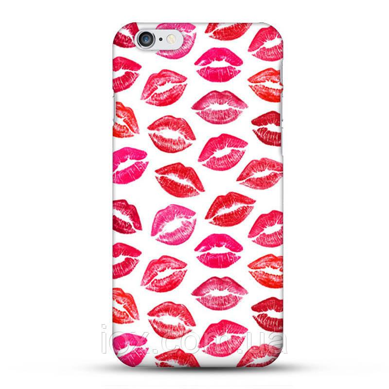 Пластиковый чехол Поцелуйчики для Iphone 6/6s