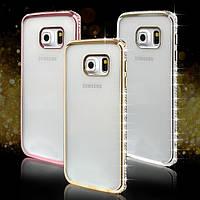 Чехол для Samsung Note 5 N920 силиконовый со стразами, фото 1