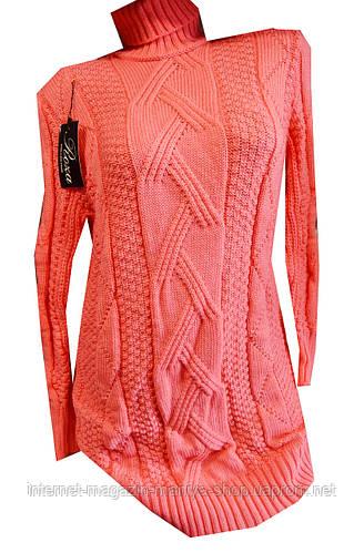 Платье-свитер женское с горлом батал